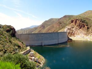 Dam that made the lake.