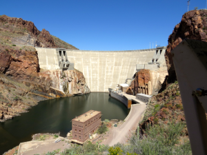 Back side of the dam.
