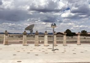 The visitors center also had a radio sundial.