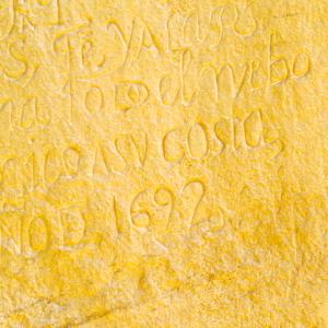 Spanish inscription from 1692