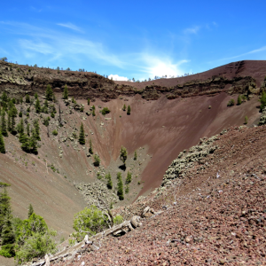 An extinct volcano cone, many can be found in this area.