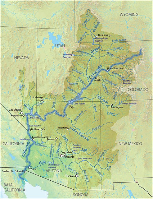 A map of the Colorado River