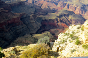 You can just catch a little glimpse of the river from the top of the canyon.