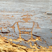 The petroglyphs at this site were very fanciful, this guy is all dressed up, maybe a chief?