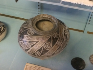 An example of the pottery found at the site.